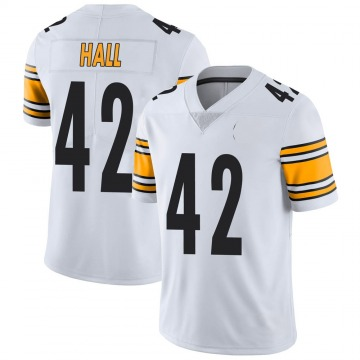 Youth Nike Pittsburgh Steelers Darrin Hall White Vapor Untouchable Jersey - Limited