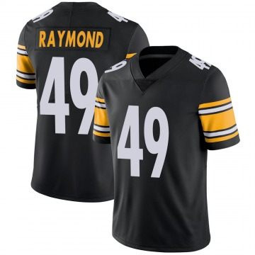 Youth Nike Pittsburgh Steelers Dax Raymond Black 100th Vapor Jersey - Limited