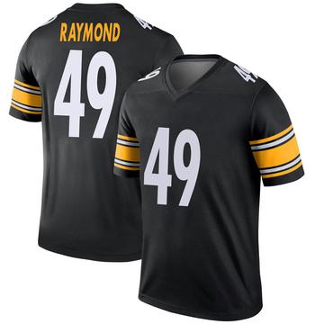 Youth Nike Pittsburgh Steelers Dax Raymond Black Jersey - Legend