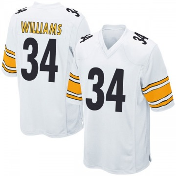 Youth Nike Pittsburgh Steelers DeAngelo Williams White Jersey - Game