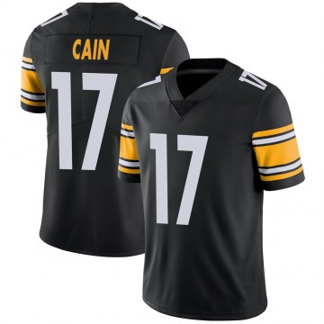 Youth Nike Pittsburgh Steelers Deon Cain Black 100th Vapor Jersey - Limited