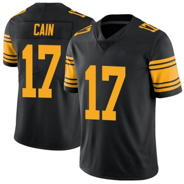 Youth Nike Pittsburgh Steelers Deon Cain Black Color Rush Jersey - Limited
