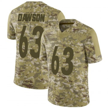 Youth Nike Pittsburgh Steelers Dermontti Dawson Camo 2018 Salute to Service Jersey - Limited