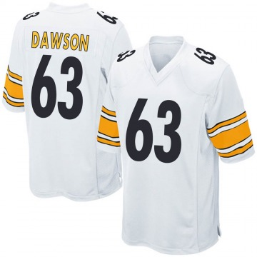 Youth Nike Pittsburgh Steelers Dermontti Dawson White Jersey - Game