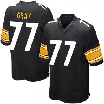 Youth Nike Pittsburgh Steelers Derwin Gray Black Team Color Jersey - Game