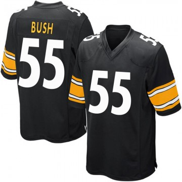 Youth Nike Pittsburgh Steelers Devin Bush Black Team Color Jersey - Game