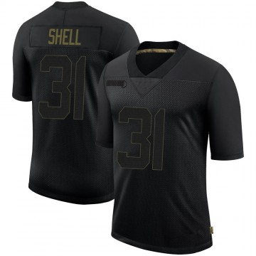 Youth Nike Pittsburgh Steelers Donnie Shell Black 2020 Salute To Service Jersey - Limited