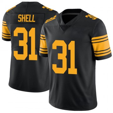 Youth Nike Pittsburgh Steelers Donnie Shell Black Color Rush Jersey - Limited