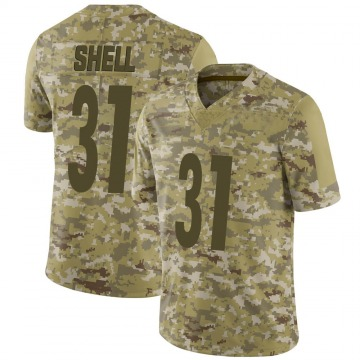 Youth Nike Pittsburgh Steelers Donnie Shell Camo 2018 Salute to Service Jersey - Limited