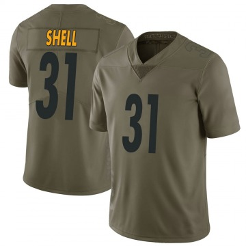 Youth Nike Pittsburgh Steelers Donnie Shell Green 2017 Salute to Service Jersey - Limited