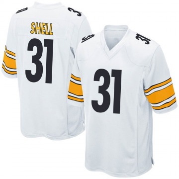 Youth Nike Pittsburgh Steelers Donnie Shell White Jersey - Game