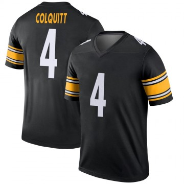 Youth Nike Pittsburgh Steelers Dustin Colquitt Black Jersey - Legend