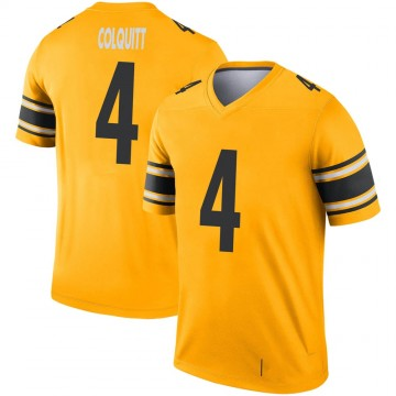 Youth Nike Pittsburgh Steelers Dustin Colquitt Gold Inverted Jersey - Legend