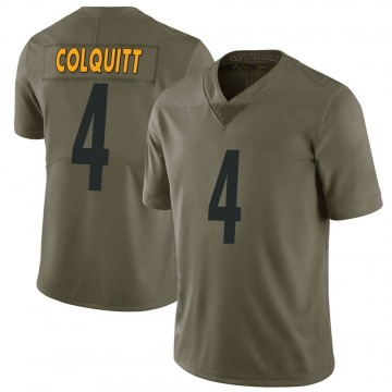 Youth Nike Pittsburgh Steelers Dustin Colquitt Green 2017 Salute to Service Jersey - Limited