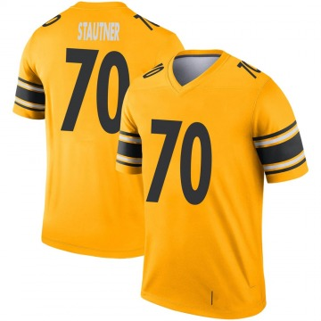 Youth Nike Pittsburgh Steelers Ernie Stautner Gold Inverted Jersey - Legend