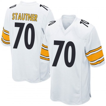 Youth Nike Pittsburgh Steelers Ernie Stautner White Jersey - Game