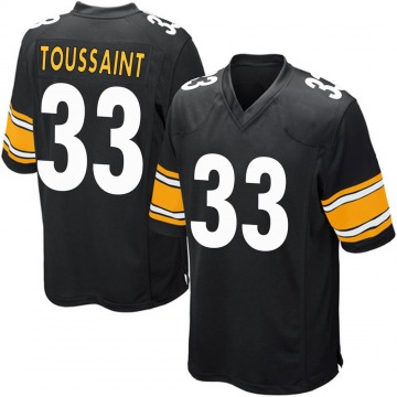 Youth Nike Pittsburgh Steelers Fitzgerald Toussaint Black Team Color Jersey - Game