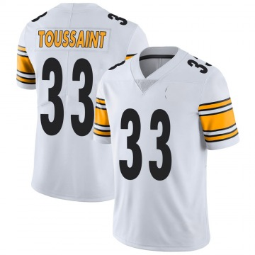 Youth Nike Pittsburgh Steelers Fitzgerald Toussaint White Vapor Untouchable Jersey - Limited