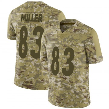 Youth Nike Pittsburgh Steelers Heath Miller Camo 2018 Salute to Service Jersey - Limited