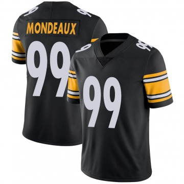 Youth Nike Pittsburgh Steelers Henry Mondeaux Black 100th Vapor Jersey - Limited
