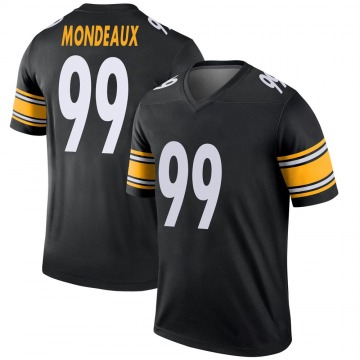 Youth Nike Pittsburgh Steelers Henry Mondeaux Black Jersey - Legend