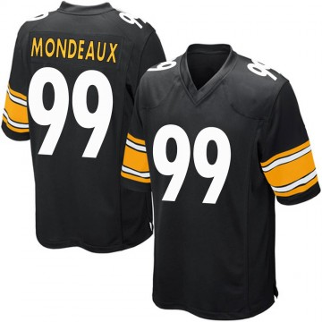 Youth Nike Pittsburgh Steelers Henry Mondeaux Black Team Color Jersey - Game