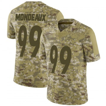 Youth Nike Pittsburgh Steelers Henry Mondeaux Camo 2018 Salute to Service Jersey - Limited