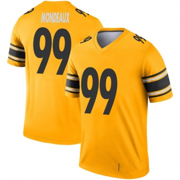 Youth Nike Pittsburgh Steelers Henry Mondeaux Gold Inverted Jersey - Legend
