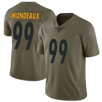 Youth Nike Pittsburgh Steelers Henry Mondeaux Green 2017 Salute to Service Jersey - Limited