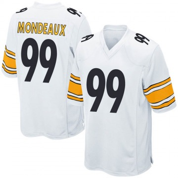 Youth Nike Pittsburgh Steelers Henry Mondeaux White Jersey - Game