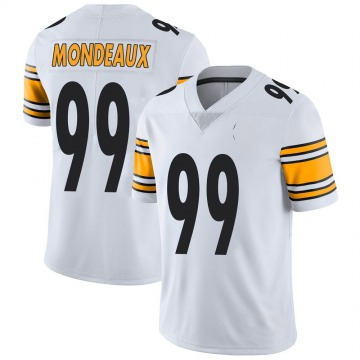 Youth Nike Pittsburgh Steelers Henry Mondeaux White Vapor Untouchable Jersey - Limited