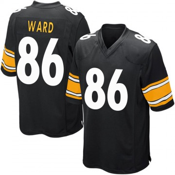 Youth Nike Pittsburgh Steelers Hines Ward Black Team Color Jersey - Game