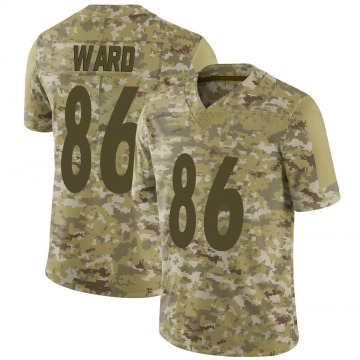 Youth Nike Pittsburgh Steelers Hines Ward Camo 2018 Salute to Service Jersey - Limited