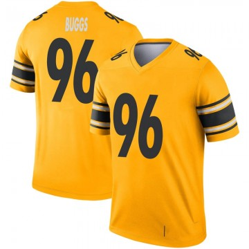 Youth Nike Pittsburgh Steelers Isaiah Buggs Gold Inverted Jersey - Legend