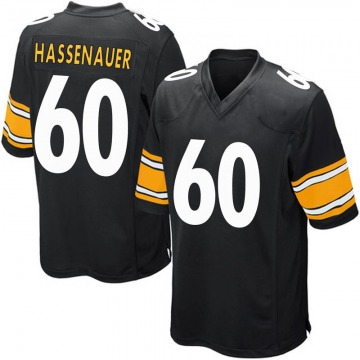 Youth Nike Pittsburgh Steelers J.C. Hassenauer Black Team Color Jersey - Game