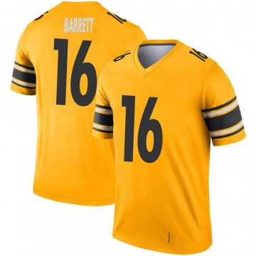 Youth Nike Pittsburgh Steelers J.T. Barrett Gold Inverted Jersey - Legend