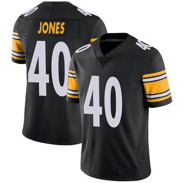 Youth Nike Pittsburgh Steelers J.T. Jones Black 100th Vapor Jersey - Limited