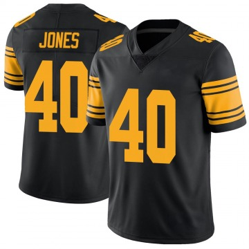 Youth Nike Pittsburgh Steelers J.T. Jones Black Color Rush Jersey - Limited
