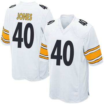 Youth Nike Pittsburgh Steelers J.T. Jones White Jersey - Game