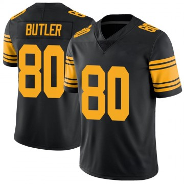 Youth Nike Pittsburgh Steelers Jack Butler Black Color Rush Jersey - Limited