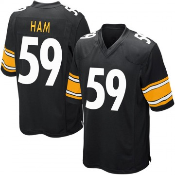 Youth Nike Pittsburgh Steelers Jack Ham Black Team Color Jersey - Game