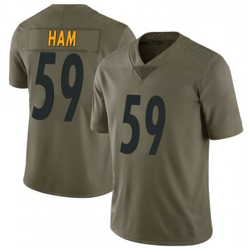 Youth Nike Pittsburgh Steelers Jack Ham Green 2017 Salute to Service Jersey - Limited