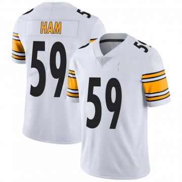 Youth Nike Pittsburgh Steelers Jack Ham White Vapor Untouchable Jersey - Limited