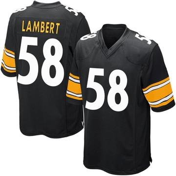 Youth Nike Pittsburgh Steelers Jack Lambert Black Team Color Jersey - Game