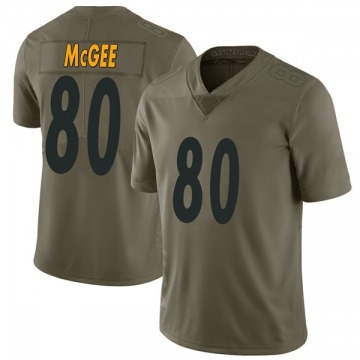 Youth Nike Pittsburgh Steelers Jake McGee Green 2017 Salute to Service Jersey - Limited