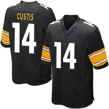 Youth Nike Pittsburgh Steelers Jamal Custis Black Team Color Jersey - Game