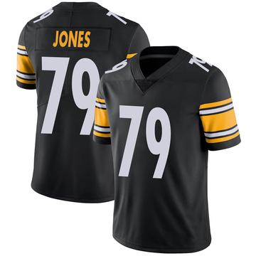 Youth Nike Pittsburgh Steelers Jarron Jones Black 100th Vapor Jersey - Limited