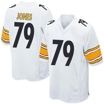 Youth Nike Pittsburgh Steelers Jarron Jones White Jersey - Game