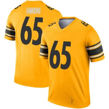 Youth Nike Pittsburgh Steelers Jerald Hawkins Gold Inverted Jersey - Legend