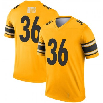 Youth Nike Pittsburgh Steelers Jerome Bettis Gold Inverted Jersey - Legend